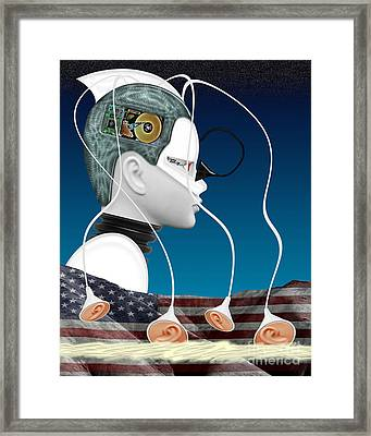 Eavesdropper Framed Print by Keith Dillon