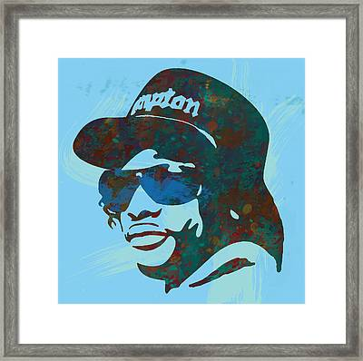 Eazy-e Pop  Stylised Art Sketch Poster Framed Print by Kim Wang