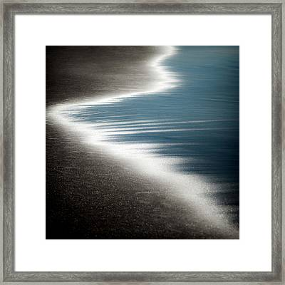 Ebb And Flow Framed Print by Dave Bowman