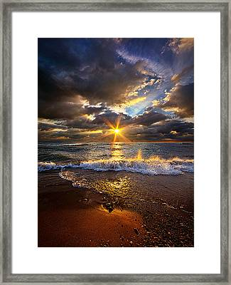 Ebb And Flow Framed Print by Phil Koch