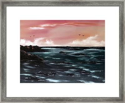Ebb Tide 1 Framed Print by Cynthia Adams