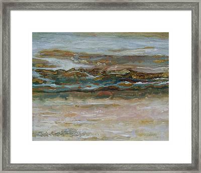 Ebb Tide Framed Print by Lou Cicardo