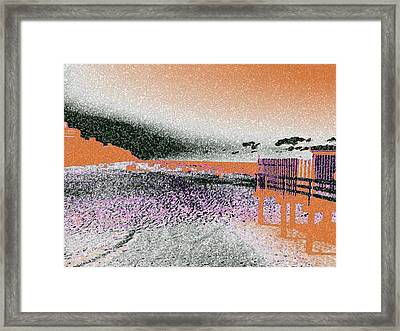 Ebbing Of The Mind Framed Print by Paula Andrea Pyle