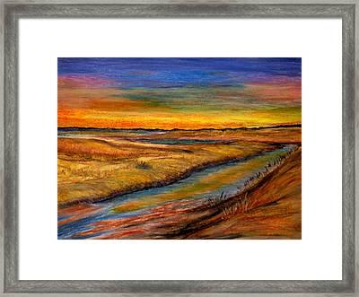 Ebbing Tide Framed Print by Daniel Dubinsky
