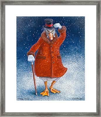 Ebenezer Goose... Framed Print