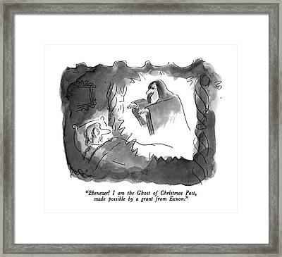 Ebenezer!  I Am The Ghost Of Christmas Framed Print by Arnie Levin