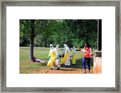 Ebola Care Training Exercise Framed Print