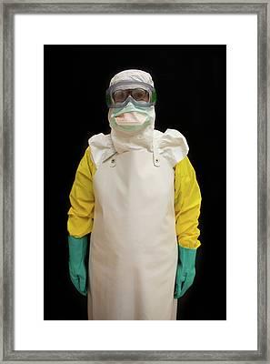 Ebola Training Centre Of Msf Framed Print by Ton Koene