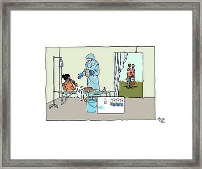 Ebola Treatment Unit Framed Print