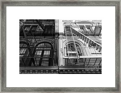 Ebony And Ivory Mono Framed Print by John Rizzuto