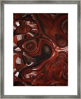 Ebony Flow Framed Print by Jack Zulli