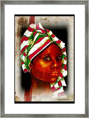Ebony II Framed Print by Ellen Cannon