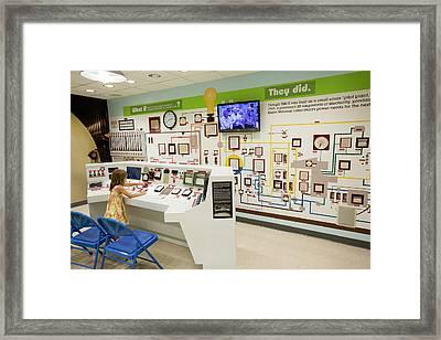 Ebr-ii Nuclear Reactor Replica Controls Framed Print by Jim West
