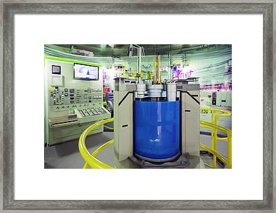 Ebr-ii Nuclear Reactor Replica Framed Print