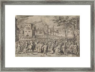 Ecce Homo, Nicolaes De Bruyn Framed Print