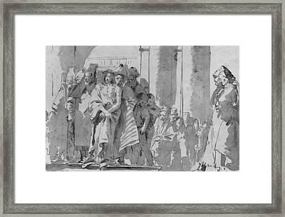 Ecce Homo Framed Print by Tiepolo