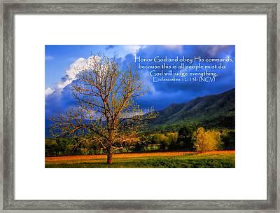 Ecclesiastes 12 - 13b Framed Print