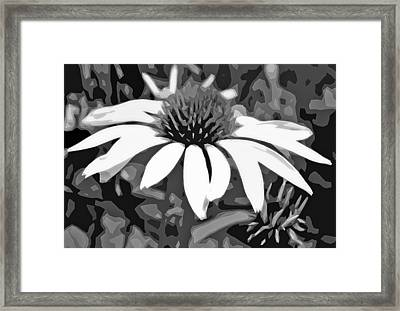 Framed Print featuring the photograph Echinacea - Digital Art by Ellen Tully