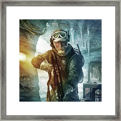 Echo Base Trooper Framed Print by Ryan Barger