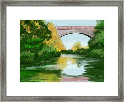 Echo Bridge Framed Print by Jean Pacheco Ravinski