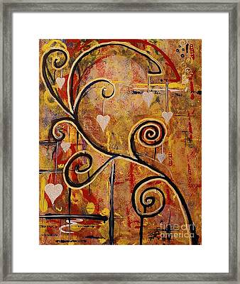 Framed Print featuring the painting Inquisitive by Jane Chesnut