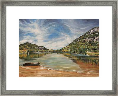 Echo Lake In Franconia Notch New Hampshire Framed Print