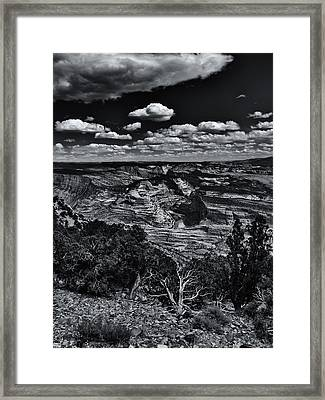 Echo Park From The Ridge Black And White Framed Print by Joshua House