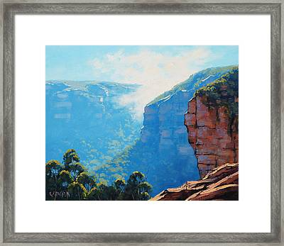 Echo Point Katoomba Framed Print by Graham Gercken