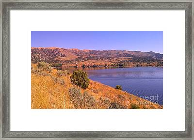 Framed Print featuring the photograph Echo Reservoir Utah by Chris Tarpening