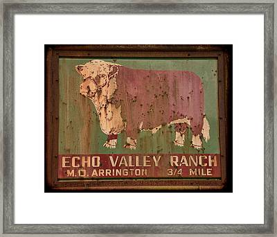 Echo Valley Ranch Framed Print