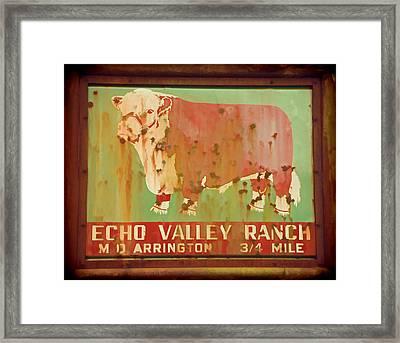 Echo Valley Ranch Stylized Framed Print