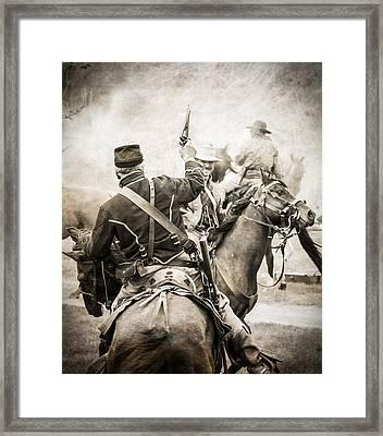 Echoes Of Battle Framed Print