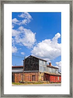 Echoes Of Industry - Small Town Georgia Framed Print by Mark E Tisdale