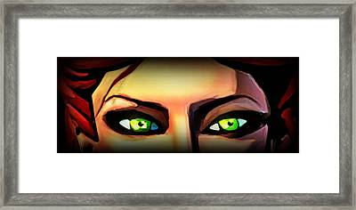 Framed Print featuring the painting Echo's Eyes by Persephone Artworks
