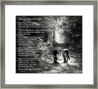 Echos From My Heart Framed Print by Sue Long
