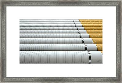Ecigarette Evolution Framed Print by Allan Swart