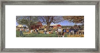 Eckert's Market Under Big Tree 1995 Framed Print by Don  Langeneckert