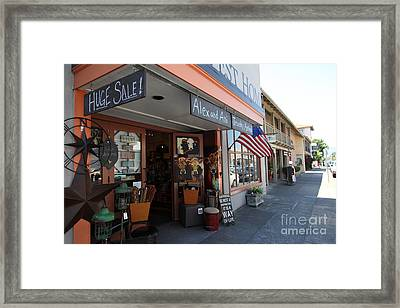 Eclectic Americana Storefront In Downtown Sonoma California 5d24475 Framed Print