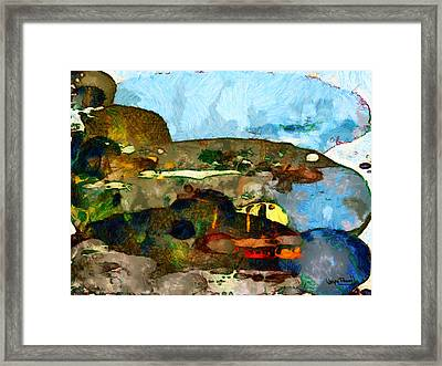 Framed Print featuring the painting Eclectic by Wayne Pascall