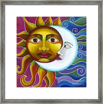Framed Print featuring the painting Eclipse by Carla Bank