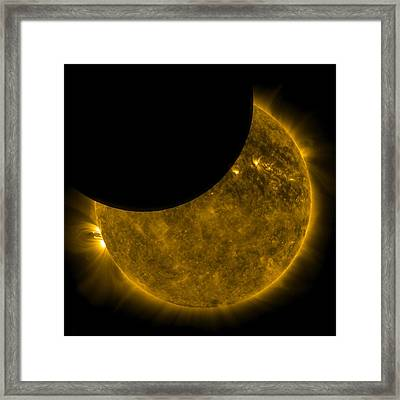 Eclipse Framed Print by Georgia Fowler