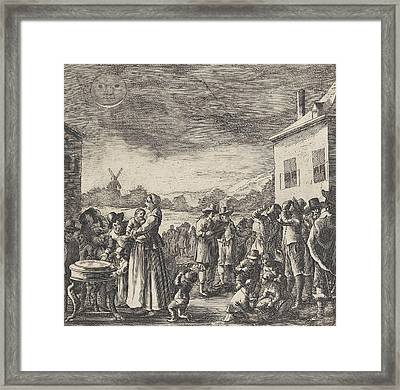 Eclipse Of August 12, 1654, Anonymous Framed Print by Anonymous