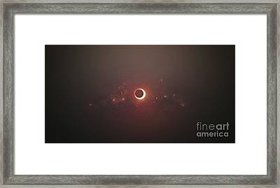 Eclipse Of The Sun In Nearby Solar Framed Print by Tomasz Dabrowski