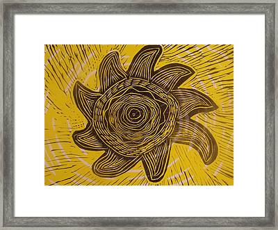 Eclipse Of The Sun In Yellow Framed Print