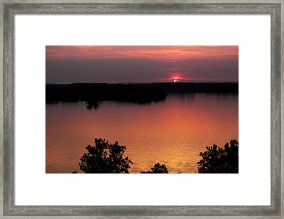Eclipse Of The Sunset Framed Print by Jason Politte