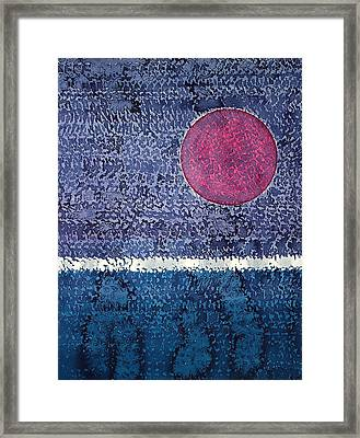 Eclipse Original Painting Framed Print by Sol Luckman