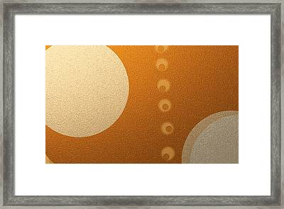 Eclipse With Olive Alignment Framed Print by Naomi Jacobs