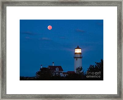 Eclipsed Moon Framed Print by Chris Cook