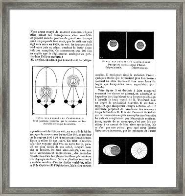 Eclipsing Binary Star Diagrams Framed Print