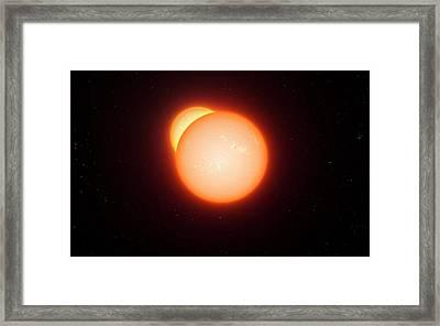 Eclipsing Binary Star System Framed Print by Eso/l. Calcada